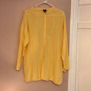 Lightweight lovely cotton long blouse. Gold